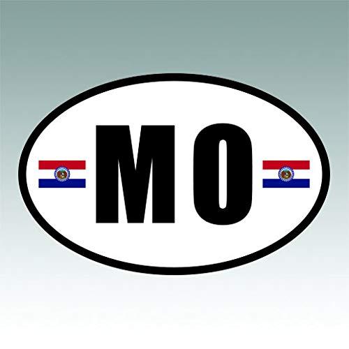 Workshop Photo Missouri - RDW Missouri State Flag Oval V3 Sticker Premium Decal Die Cut MO