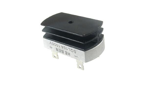 Caja metálica eDealMax 10A 1000V Puente rectificador Con disipador ...