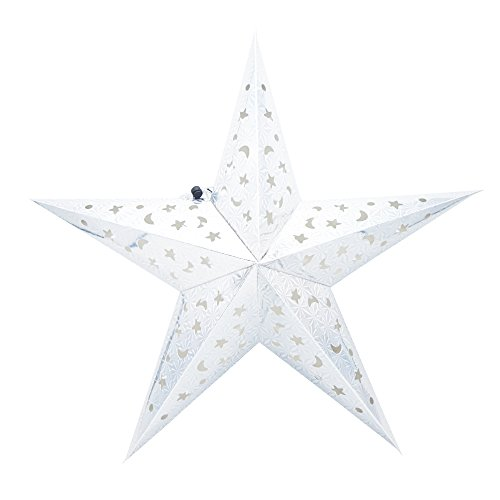Paper Star Lantern 3D Pentagram Lampshade for Christmas Xmas Party Holloween Birthday Home Hanging Mayo/Birthday/Wedding/Ceiling Supplies Favors - Atlanta Near Shopping