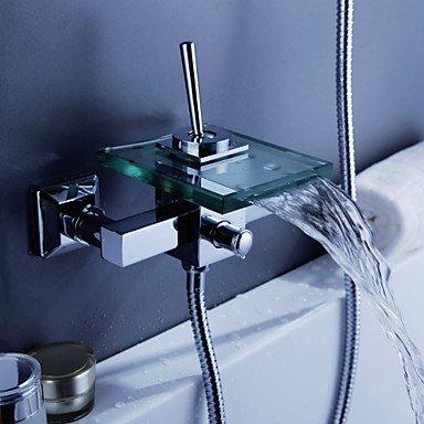 AiMi- Badewannenarmaturen/Duscharmaturen - Zeitgenössisch - Wasserfall - Messing ( Chrom )
