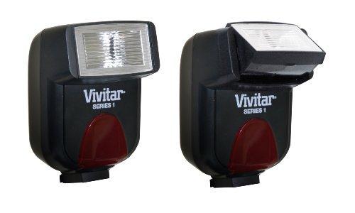 Vivitar DF183CAN Flash for Canon SLR/DSLR Camera (Black)