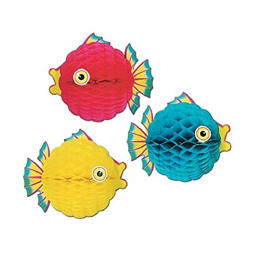 Tissue Bubble Fish - Bargain World Tissue Bubble Fish (Assorted Colors - Sold Individually) (with Sticky Notes)