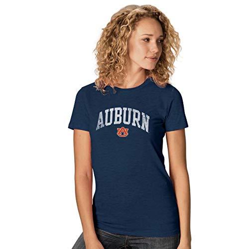 (Camp David Auburn Tigers Womens Ultra Soft Signature Crew Neck T-Shirt - Navy, Womens Small)