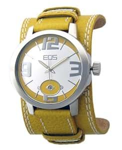 EOS EOS NEW YORK 12SYEL - Reloj unisex de cuarzo con correa de piel amarilla