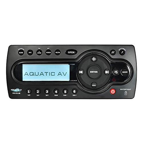 Aquatic AV AQ-CD-4B CD Media Center Waterproof Marine Stereo System (Aquatic Center)