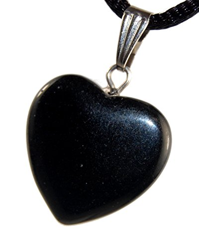 Big Heart Collection - 20mm Classic Onyx Agate Black, 20