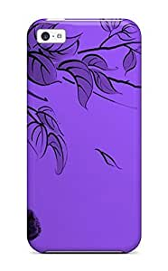 USMONON Phone cases New Arrival Iphone Iphone 5c Case Butterfly Purple Case Cover