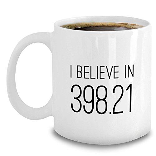 Librarian Mug - I Believe In 398.21 (Fairytales) - Funny Librarian Coffee Mug Gift - Dewey Decimal Sytem