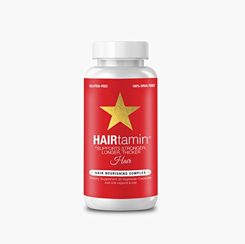 #HAIRtamin Fast Hair Growth Biotin Vitamins. Gluten Free. Supports Stronger, Longer, Thicker Hair. Reduces Hair Loss & Thinning. All Natural Supplement.
