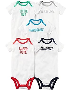 Carter's Baby Boys 5-Pack Short-Sleeve Original Bodysuits (Little Guy)