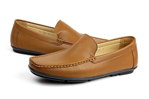 MOCASSINI moda On Driving stile DESIGN Uomo alla DI Casual mocassino MODA Marroncino scarpe Slip v5wwtYq