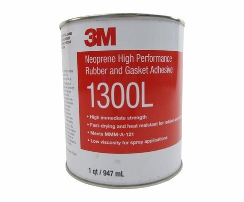 3M 1300L Yellow Neoprene High Performance Rubber and Gasket Adhesive
