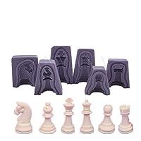 Anyana International chess 6 sets fondnat silicone 3D double-sided printing fondant sugar mold baking tools
