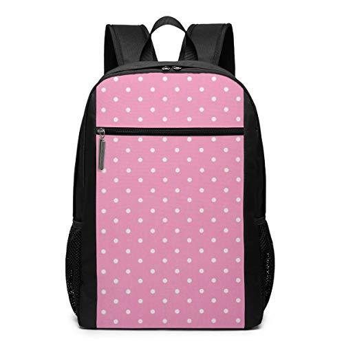 GgDupp Polka-Dot School Bag Travel Backpack 17 Inch Laptop Bag (17 Inch Laptop Bag Polka Dot)