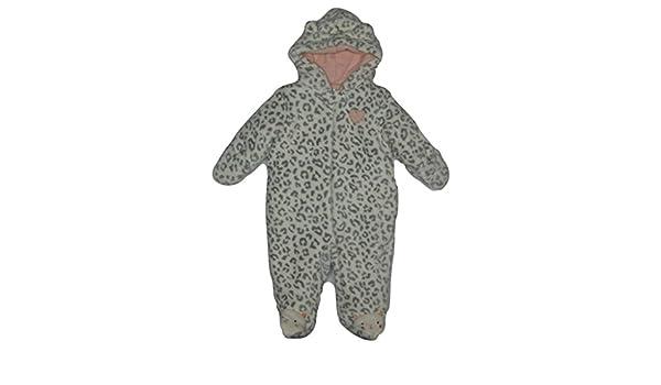 1d7dced7e328 Amazon.com  Little Wonders Newborn Girl s Hooded Fleece Pram Suit ...