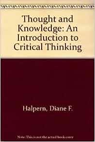 thinking critically about critical thinking diane halpern