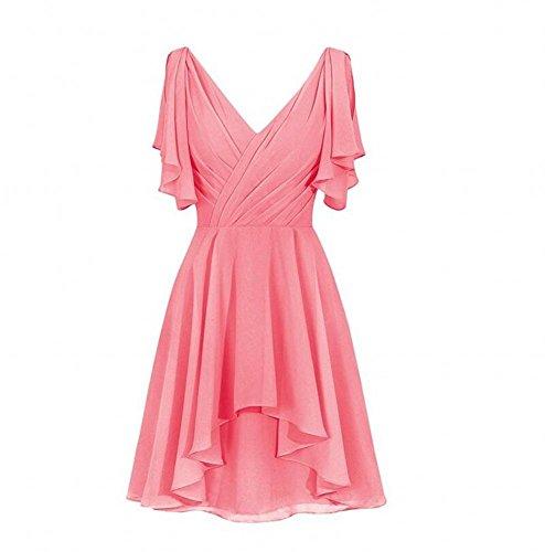 Damen KA Beauty KA Kleid Korallenrot Beauty 84OwRtqxtd