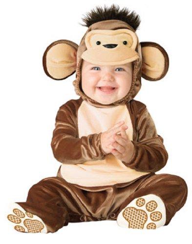 InCharacter Costumes Baby's Mischievous Monkey Costume, Brown/Cream, Medium - Monkey Baby Costume