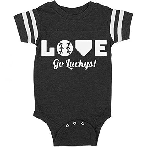 Go Luckys Baseball Love: Infant Rabbit Skins Football Bodysuit