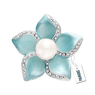 56ed69529ddf5 SenFai Wedding Dress Fashion Jewelry Brooches Crystal Rhinestone Flower  Brooch for Women