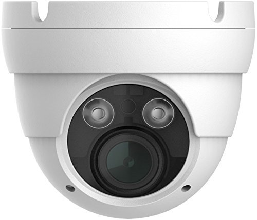 HDView Starlight IP Camera, Color at Night Vision, 2MP Megapixel Network ONVIF PoE, 2.8-12mm Vari Focal Lens 3-Axis, Eyeball Dome