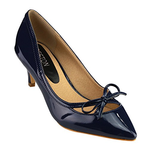 Beston Womens Pointed Heels Bowknot