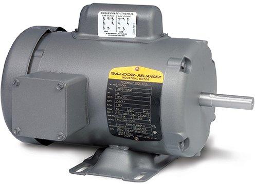 Baldor Electric Company L3507-50 - General Purpose Motor - 1 ph, 3/4 hp, 1500 rpm, 110/220 V, 56 Frame, TEFC Enclosure, 50 Hz, Foot Mount ()
