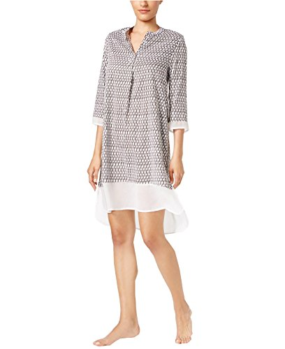 dkny-womens-chiffon-trimmed-sleepshirt-x-large-white-dot-multi
