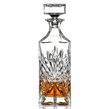 James Scott Crystal Liquor Whiskey and Wine Decanter Irish Cut 750 Milliliters