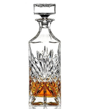 James Scott Crystal Liquor Whiskey and Wine Decanter - Liquor Table