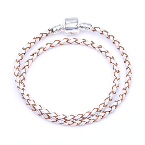 Buddy Prelude Honda - Only Shopping Can Heal Me Boosbiy Fashion 9 Colors Leather Chain Charm Bracelets for Women DIY Brand Bracelet Jewelry Accessories,White,17cm