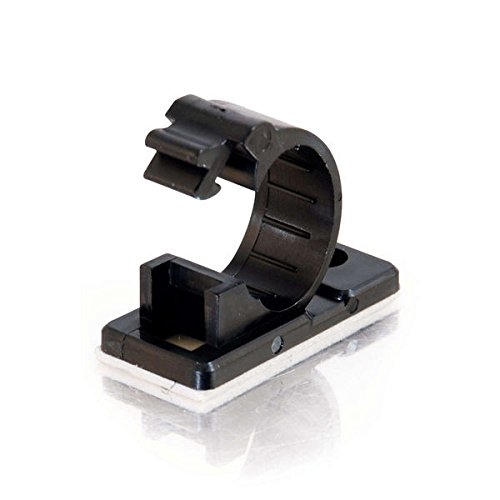 C2G/Cables to Go 43053 0.68 Inch Self-Adhesive Cable Clamp Multipack (50 Pack) TAA Compliant