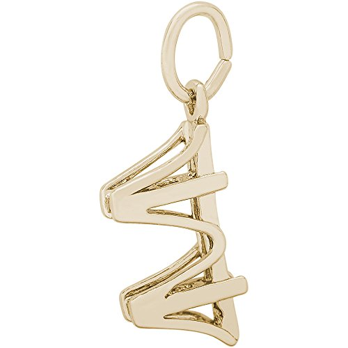 Rembrandt Charms Two-Tone Sterling Silver Golden Gate Bridge Accent Charm (6.5 x 6 ()