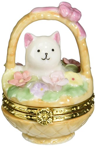 COSMOS 738-66 Fine Porcelain Cat and Dog Hinged Box, 2-3/...