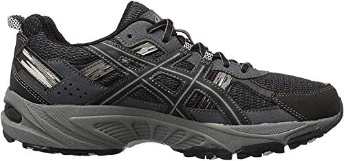41UbEs9ciML. AC ASICS Men's GEL Venture 5 Running Shoe    The GEL-Venture 5 provides great fit and everyday comfort, with Rearfoot GEL Cushioning and a rugged outsole ideal for a variety of terrains. ImportedRubber soleOutdoor-ready runner with mesh and brushstroke-patterned underlaysRearfoot GEL cushioningRemovable sockliner accommodates medical orthoticsTrail-specific outsole with reversed traction lugsAHAR outsole rubber in critical high-wear areas