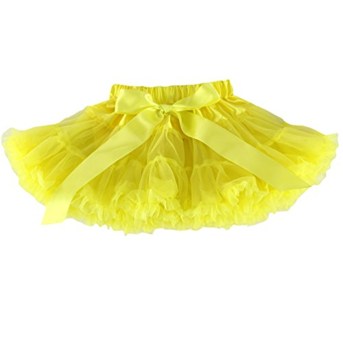Wennikids Little Girl's Dance Chiffon Pettiskirts Tutu Assorted Size and Color X-Large Yellow -