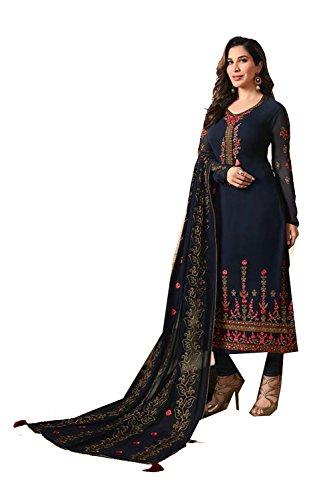 Da Traditonal Salwar Donne Indiane Partywear Facioun Etnica Blu Kameez Neavy Progettista r1qYrxT