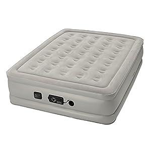Insta Bed Raised Air Mattress with Neverflat Pump, Grey, Full