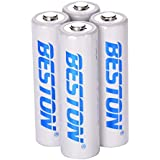 Rechargeable AA Batteries BESTON NiMH Double A Batteries (4 Pack)
