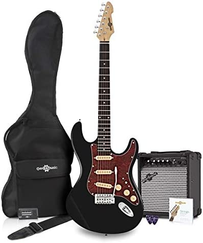 Set de Guitarra Electrica SSS LA Select Negra + Amplificador ...