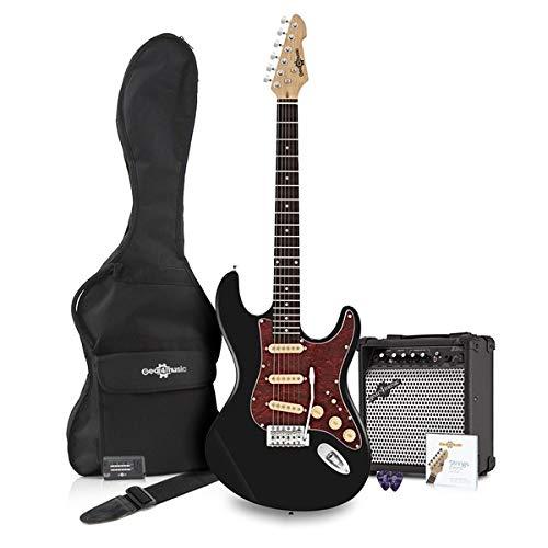 Guitarra Eléctrica LA SSS + Paquete de amplificador Negro: Amazon.es: Instrumentos musicales