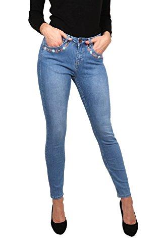 Jean LB001A Femme Skinny Bleu Pild Rogen Clair CxqnZ6f