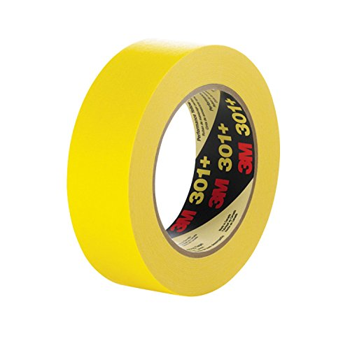 3M 301+48 301+ Yellow Masking or Painter's Tape, 48 mm Width
