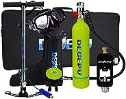 Scuba Diving Tank Set, Scuba Cylinder Oxygen, 1L Mini Tank Scuba, Portable Diving Oxygen Cylinder Equipment Ki