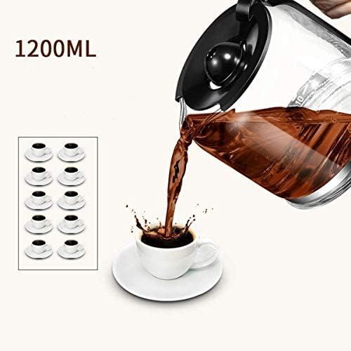 Filtre machine à café, machine à café goutte à goutte avec la cruche en verre 1200ml machine à café filtre amovible Grinder