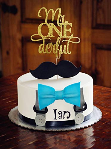 Tremendous Jevenis Glittery Mr Onederful Cake Topper 1St Birthday Cake Topper Birthday Cards Printable Trancafe Filternl