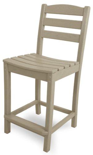 POLYWOOD TD101SA La Casa Caf Counter Side Chair, Sand