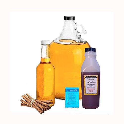 HomeBrewStuff Basic 1 Gallon Table Top Nano-Cider Hard Spiced Apple Cider Recipe Refill Kit
