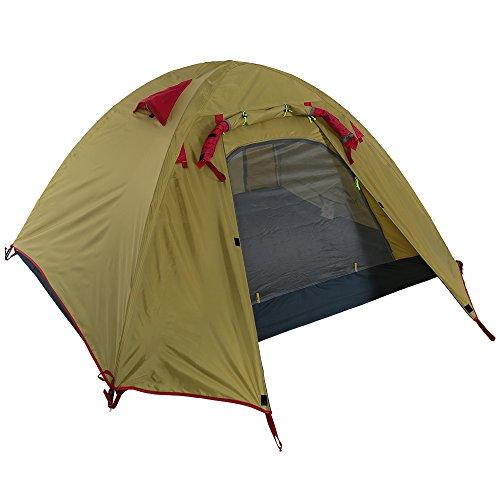 Docooler 2-3 Person Camping Tent Double Layer3 Season Aluminum Rod Double Skylight Outdoor Aluminum Poles Tent