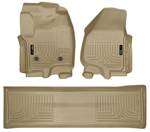 Husky Liners Front & 2nd Seat Floor Liners Fits 12-16 F250 Crew w/ foot -